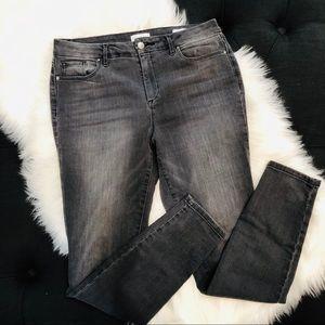 Jessica Simpson High Rise Skinny Gray Jeans EUC 10